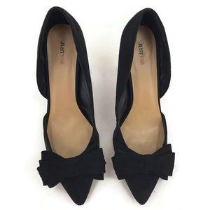 4bc7e19e00970f JustFab Shoes - Just Fab Frances Black Stiletto Heels Size 11